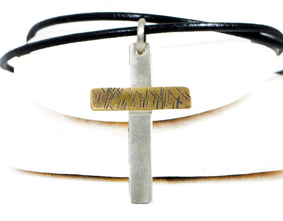 Jewelry  Necklaces  Charm Necklaces  baptism necklace  mens leather cross  leather silver men  silver cross leather brother groom  personalized cross  memorial jewelry  meaningful jewelry  husband boyfriend  engraved cross men  Duo Stef bible verse jewelry  gold cross men
