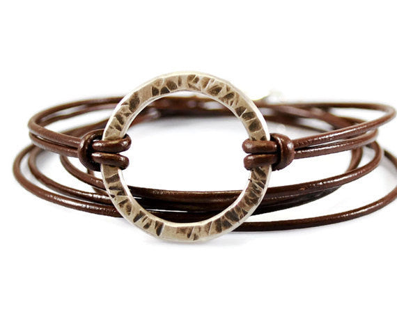 Jewelry  Bracelets  Charm Bracelets  secret message ring  boho bracelet  boyfriend friend bff  wrap bracelet unisex triple wrap leather  wife daughter women  karma bracelet  gift for him men  Duo Stef  husband groom  gift to boyfriend mantra jewelry  inspirational gift