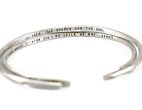 Jewelry  Bracelets  Cuff Bracelets  motivation bracelet  inspirational gift  secret message cuff  personalized women believe in yourself  engraved cuff men  custom cuff bracelet  silver thick cuff  Duo Stef  husband biyfriend  wife girlfriend fathers mothers day  mantra bangle