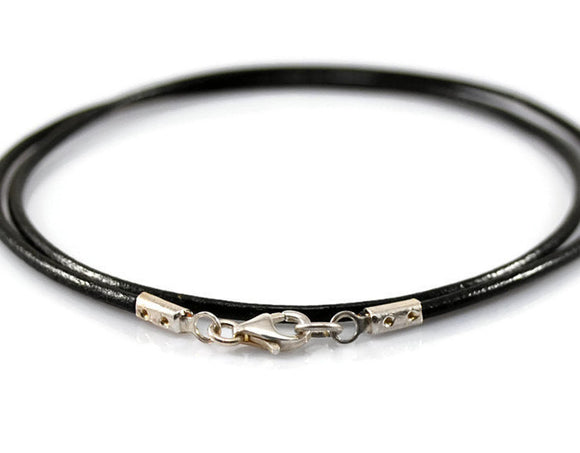 Jewelry  Necklaces  Chokers  leather choker  unisex necklace  leather silver  black leather  genuine leather thick leather cord  everyday jewelry  teenager necklace  gift for teenager  surfers necklace  Leather jewelry  Mens Necklace Duo Stef