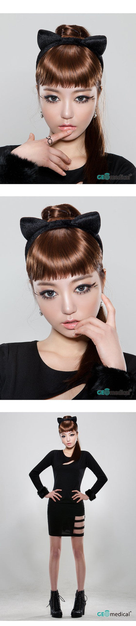 GEOLICA® HoliCat™ Sexy Cat Gray Coloured Contact Lenses | Singapore Authorised Dealer | FREE Worldwide Shipping | Price Match Guarantee
