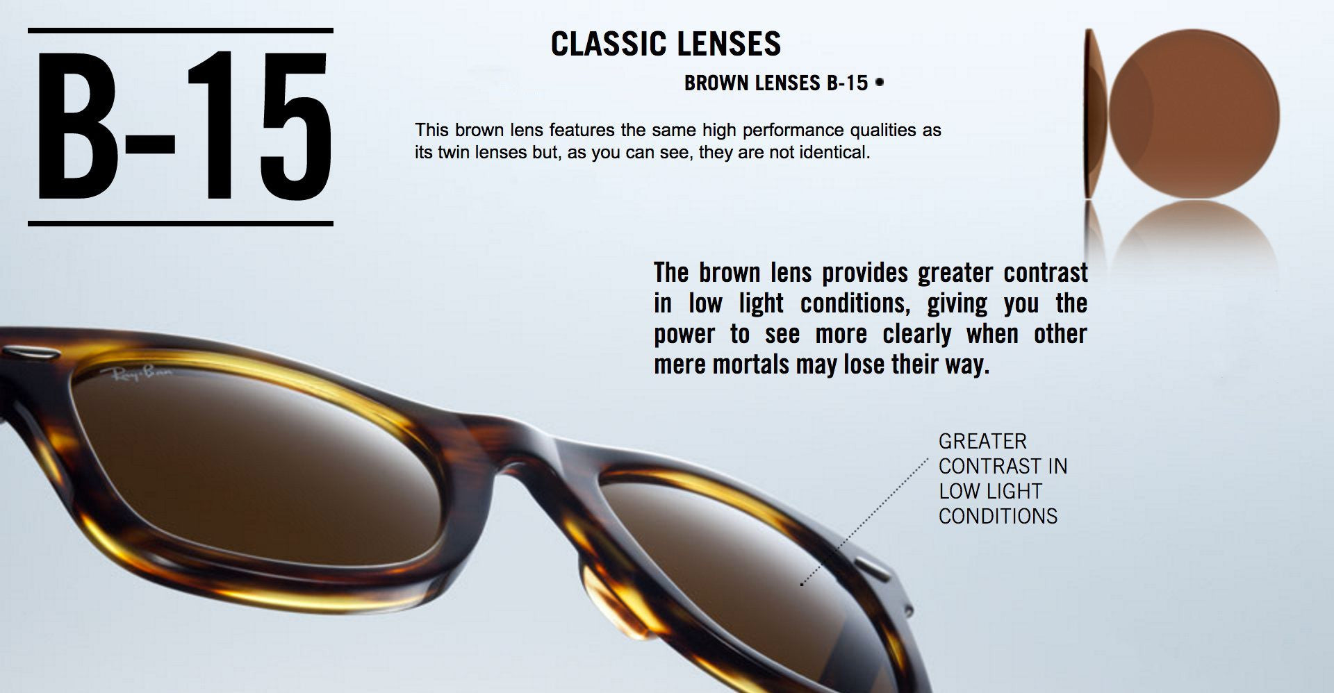 Ray-Ban Brown Lenses B-15