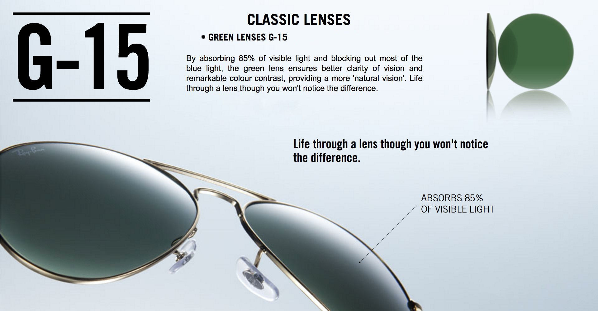 Ray-Ban Green Lenses G-15