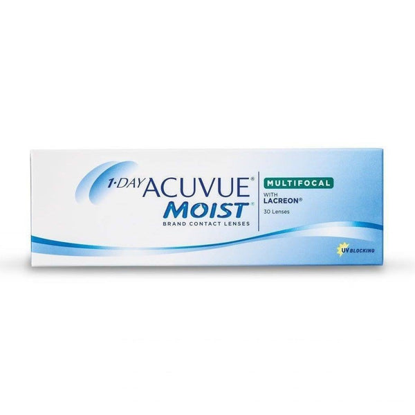 ACUVUE® | 1-DAY ACUVUE MOIST FOR MULTIFOCAL, 30/Box | Contact Lenses | 1+- | Singapore Authorised Dealer | Sin Chew Optics