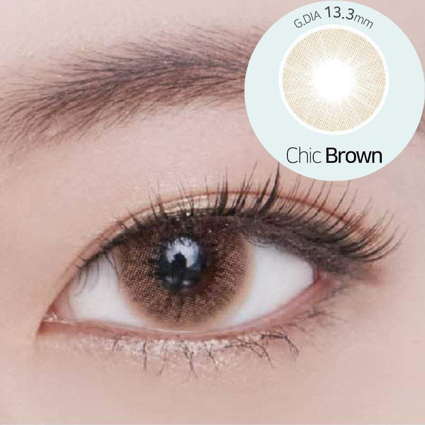 GEOLICA® | Geolica Blenz Chic Brown, 2/Box | Contact Lenses | - | Singapore Authorised Dealer | Sin Chew Optics