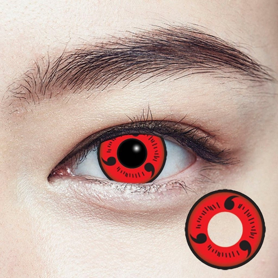 Geolica Crazy Lens CP-S1 Naruto Uchida Clan Sharingan, 2/Box-GEOLICA®-Sin Chew Optics