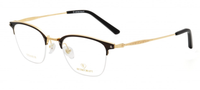 RETROCRAFT | RETROCRAFT RC1095 Black/Matt Gun Metal | Eyeglasses | Brown/Gold- | Singapore Authorised Dealer | Sin Chew Optics