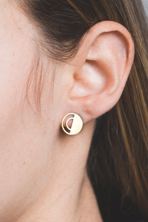 Echo Bounce Earrings | Gold (14K)