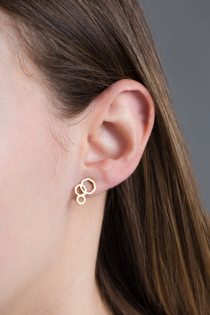 Hexa Bubble Earrings | Gold (14K)