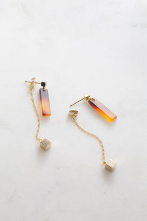 Soryn Ear Jacket Earrings | Tortoise Shell