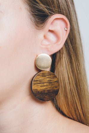 Round Up Wood Drop Earrings