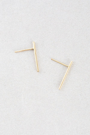 Straight Bar Ear Crawlers (14K)