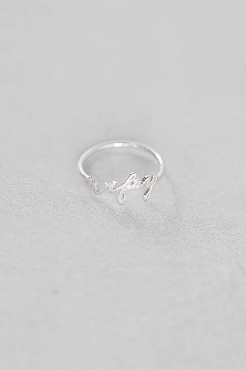 Wifey Ring | Silver