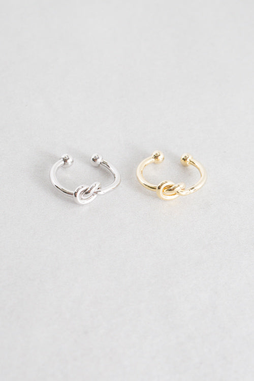 Knot Adjustable Ring | Silver