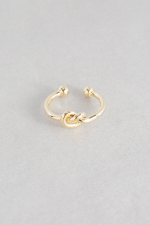 Knot Adjustable Ring | Gold