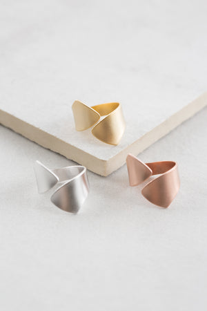 Gold Inara Crossover Matte Ring