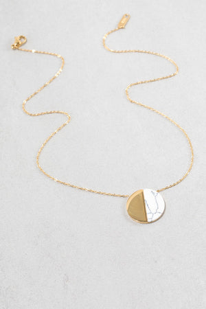Half Moon Howlite Necklace