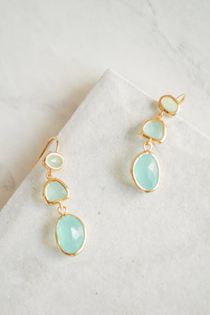 "Mint ""Jewel""ep Drop Earrings"