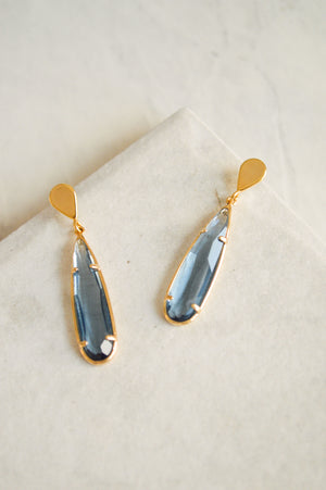 Valora Jewel Drop Earrings | Blue