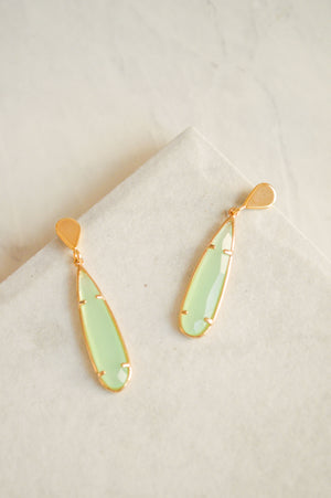 Valora Jewel Drop Earrings | Green
