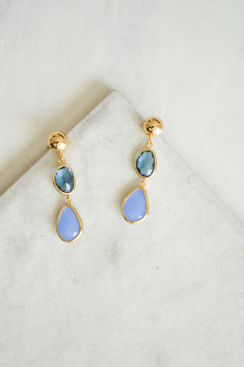 Dahlia Jewel Drop Earrings | Something Blue