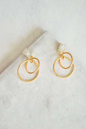 Lonna Linked Earrings | Labradorite
