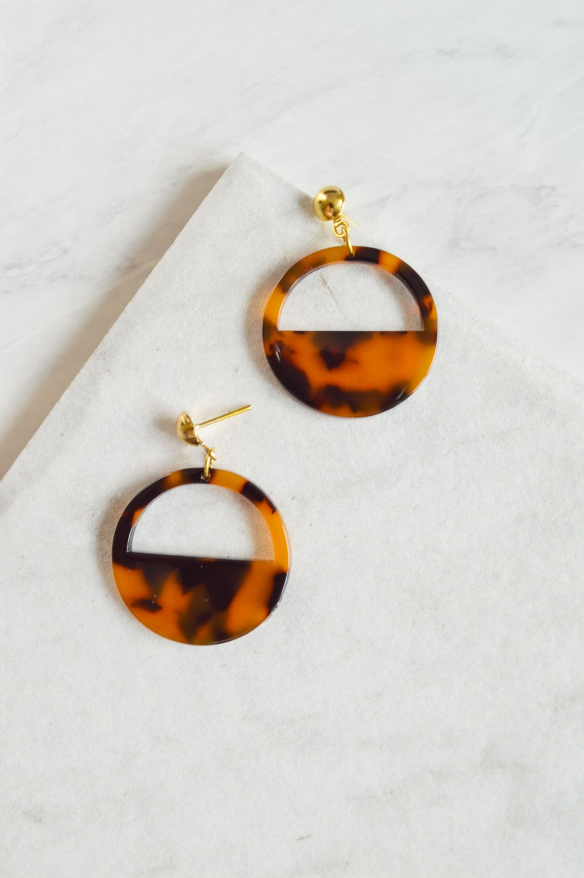 Camilla Circle Drop Earrings