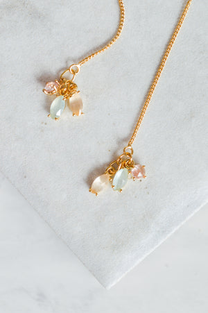 Tiny Jewels Threader Earrings