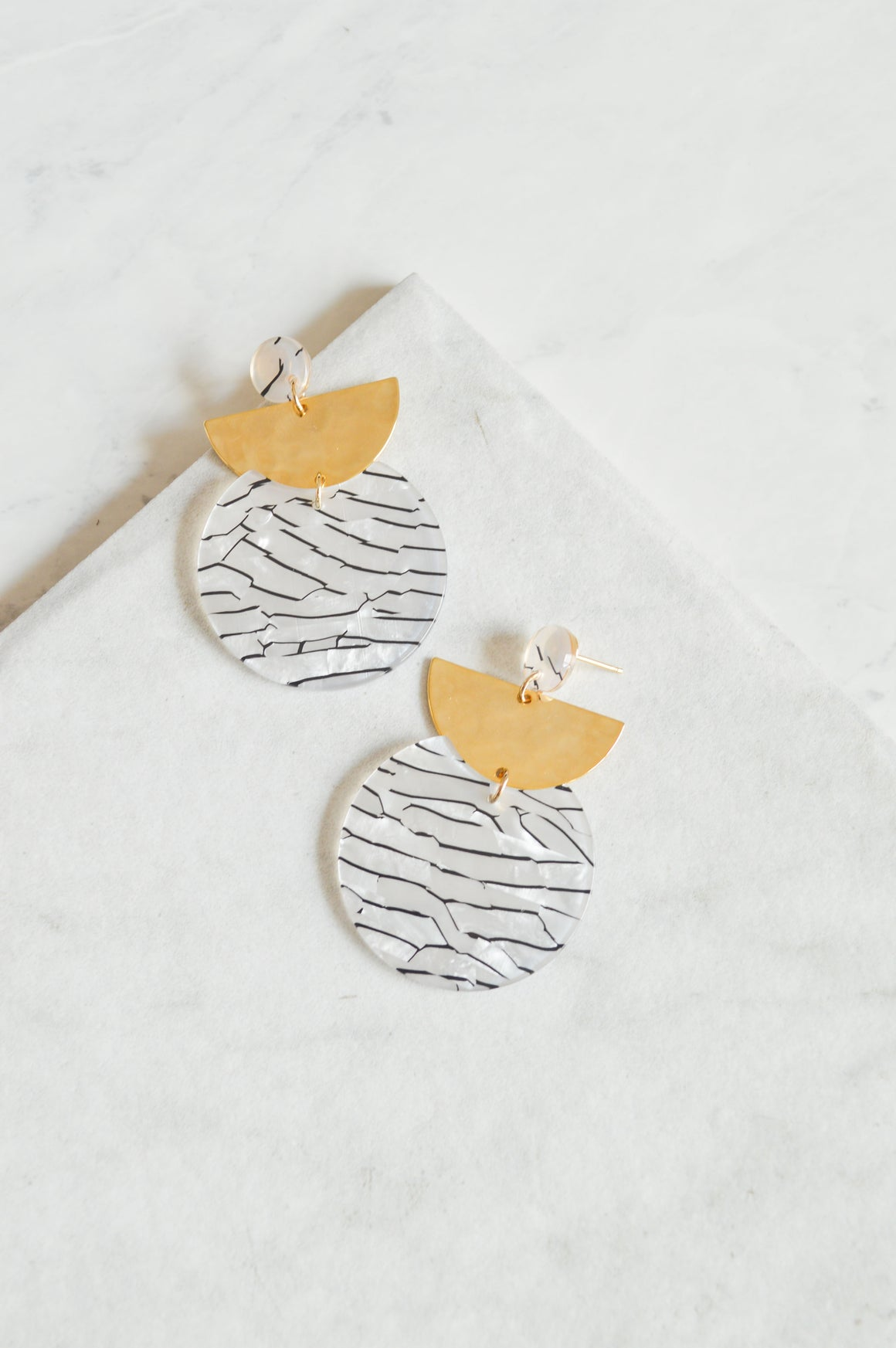 Safari Moon Drop Earrings