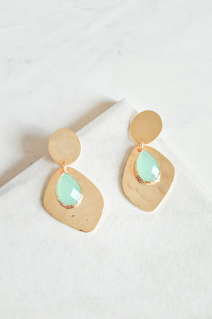 Acacia Drop Earrings | Mint Green