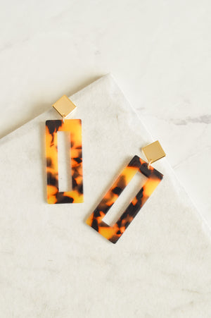 Isadora Drop Earrings | Brown Tortoiseshell