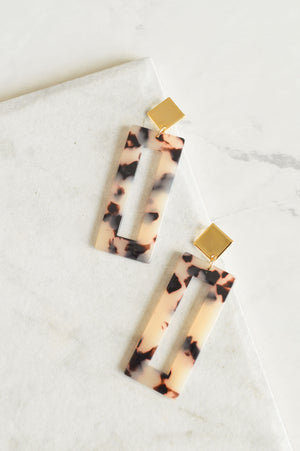 Isadora Drop Earrings | Blonde Tortoiseshell
