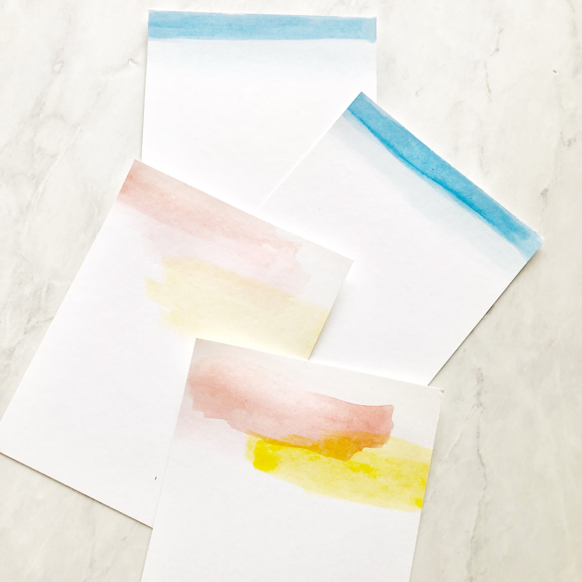 Watercolor stationary set