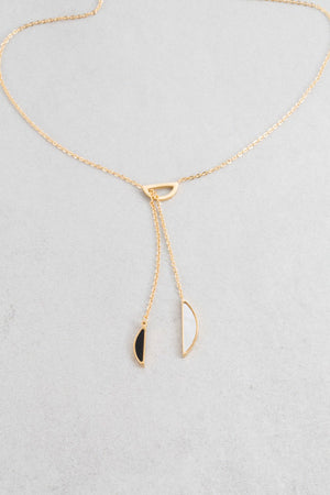 Elia Lariat Necklace | Gold (14K)