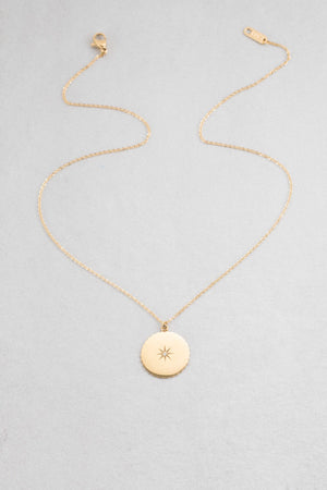 Golden Compass Necklace | Gold (14K)