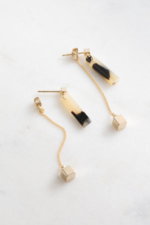 Soryn Ear Jacket Earrings | Blonde Shell