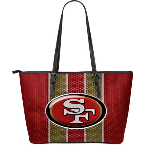 49ers Large Leather Tote