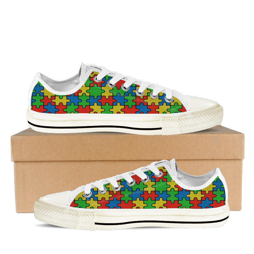 AUTISM AWARENESS MONTH MENS LOW (WHITE)