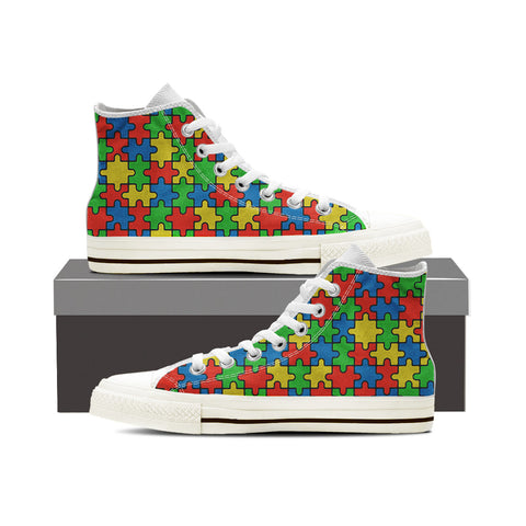 Autism Awareness Month Mens (White)