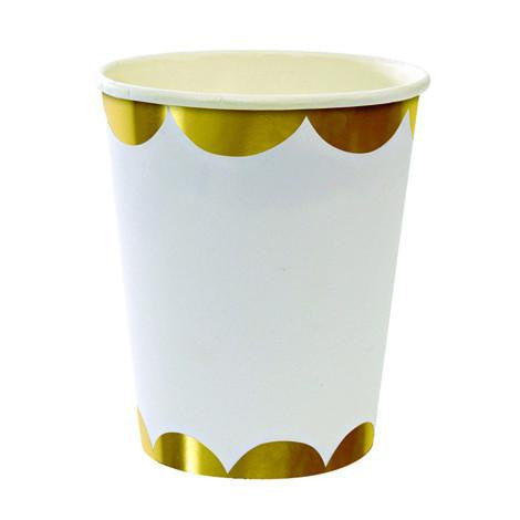 Toot Sweet Gold Scallop Party cups - Solsken