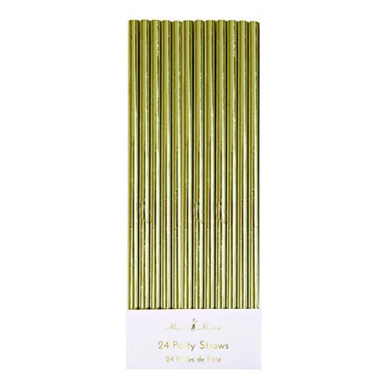 Gold Foil Party Straws - Solsken