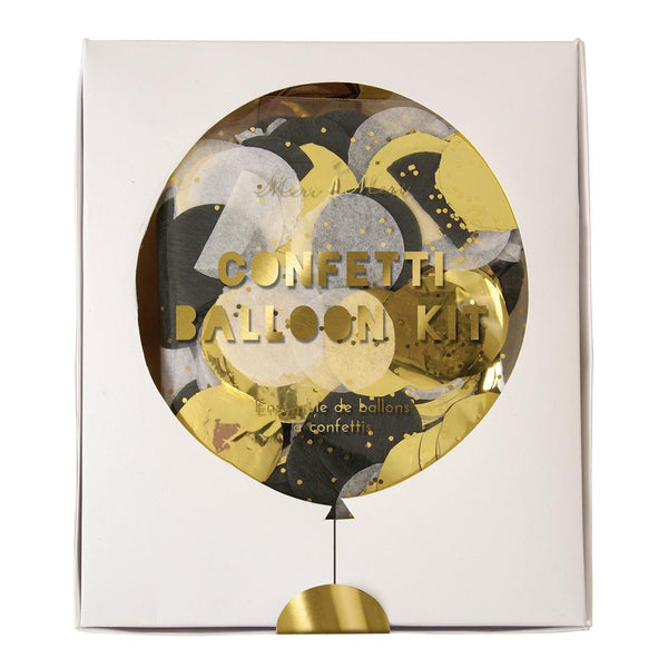 Gold and Silver Confetti Balloon Kit - Solsken