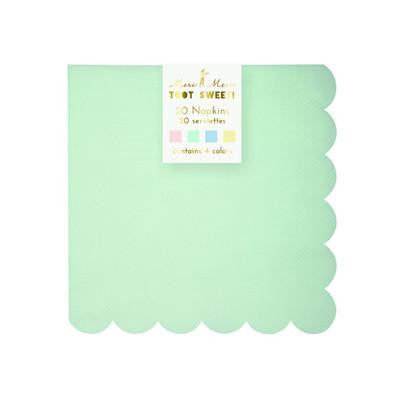 Assorted pastel small napkins - Solsken