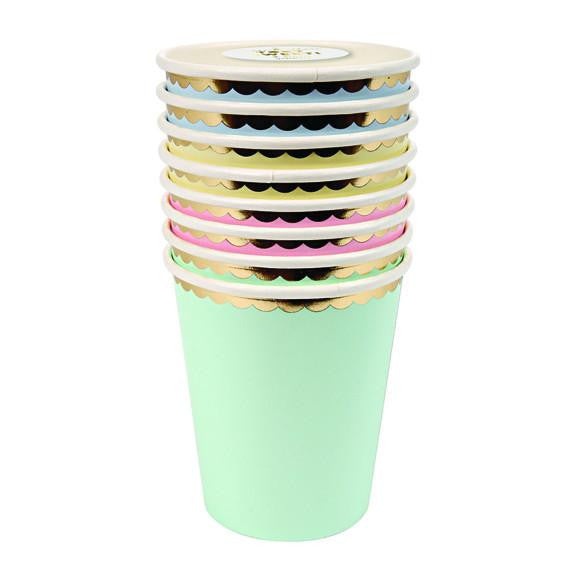 Assorted pastel party cups - Solsken