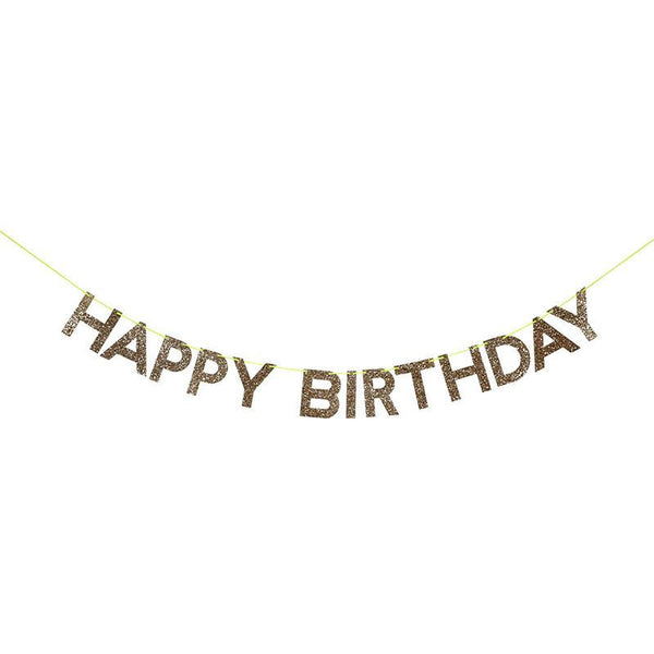 Gold Happy Birthday Garland - Solsken