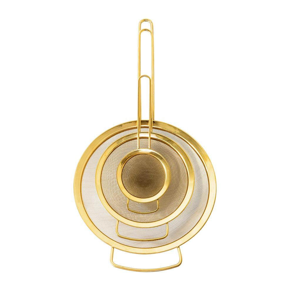 Gold Strainers - set of 3 - Solsken