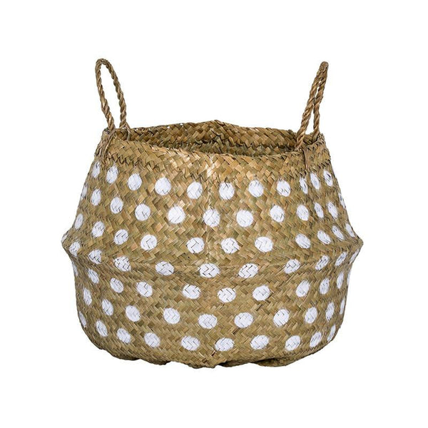 Natural basket - White dots - Solsken