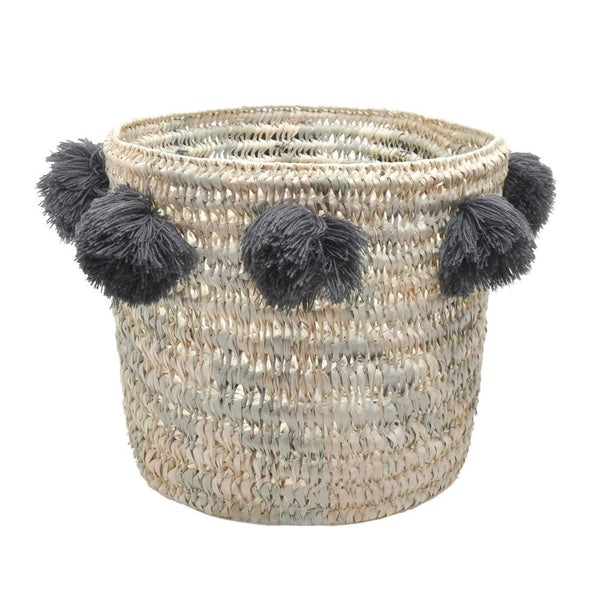 Large Pompons Basket Louis - Solsken