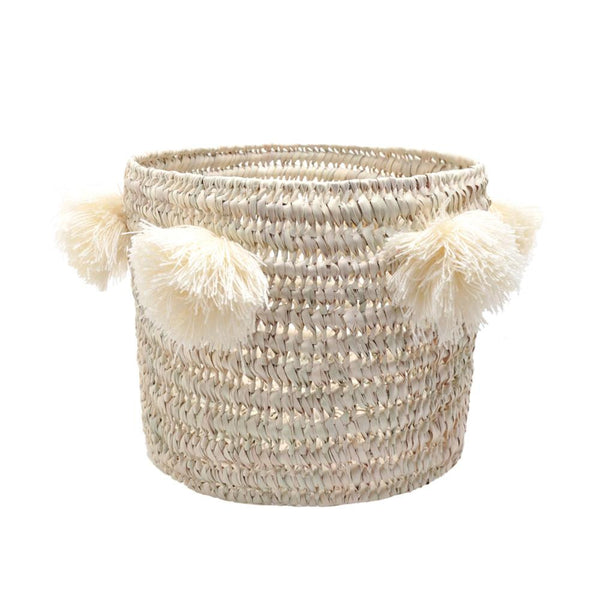 Medium Pompons Basket Louis - Solsken