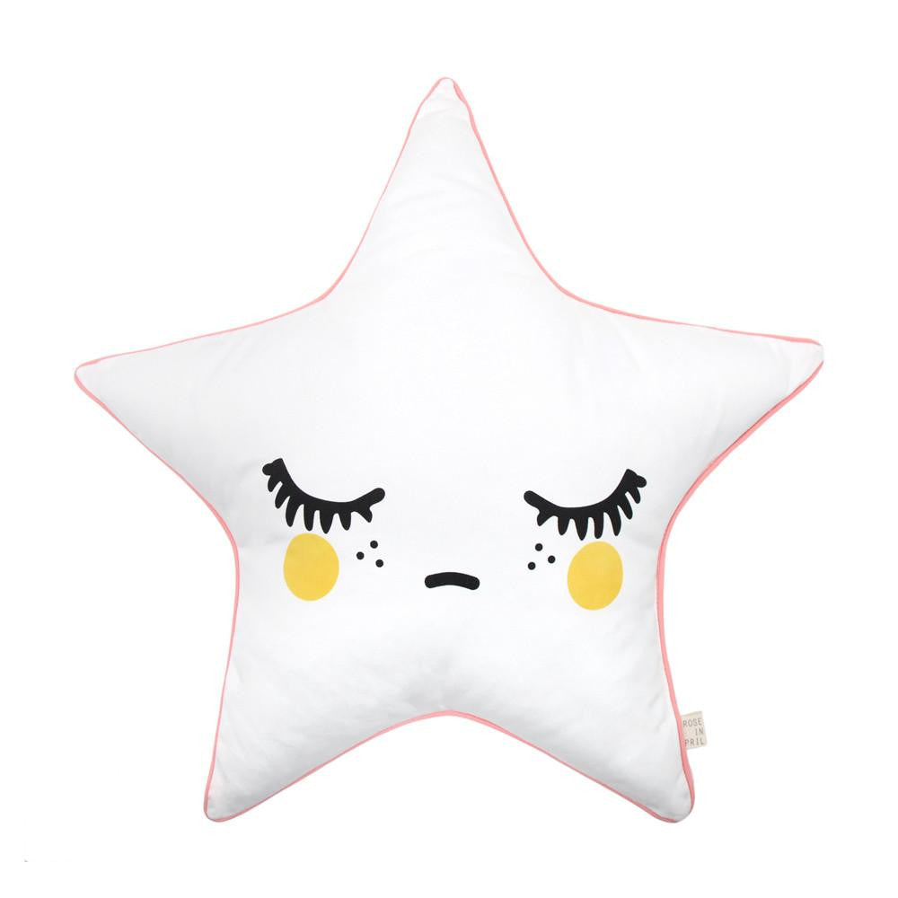 Printed Sleepy Dolly Star Cushion - Solsken